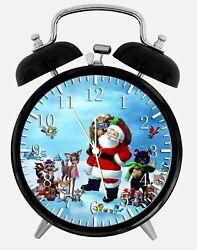 Santa Claus Alarm Desk Clock 3.75 Home or Office Decor W111 Nice For Gift