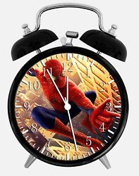 Spiderman Alarm Desk Clock 3.75 Home or Office Decor W65 Nice For Gift