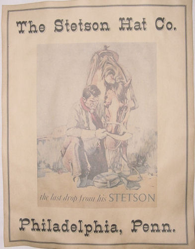 Stetson Hat Company Ad Poster, old west, western, co, wanted