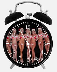 Sexy Santa Girls Alarm Desk Clock 3.75 Home or Office Decor W67 Nice For Gift