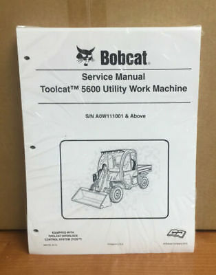 Bobcat Toolcat 5600 Utility Machine Complete Shop Service Manual 4 Pn 6904792