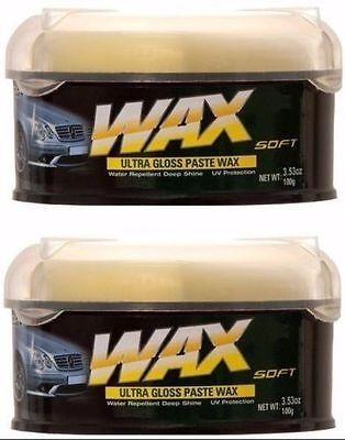 Ultra Gloss Wax (2X Car Ultra Gloss Paste Wax + Sponge Uv Protection Shine Water Repellent BN-202)