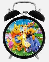 Winnie The Pooh Alarm Desk Clock 3.75 Home or Office Decor W198 Nice For Gift