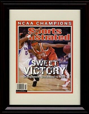 Framed Carmelo Anthony Sports Illustrated Autograph Replica Print - Syracuse ...