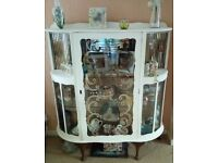 Vintage -Shabby Chic Style China Cabinet. Glass fronted