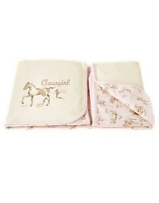 NWT Good Gymboree HOME ON THE RANGE Cowgirl Soft Knit Reversible Blanket