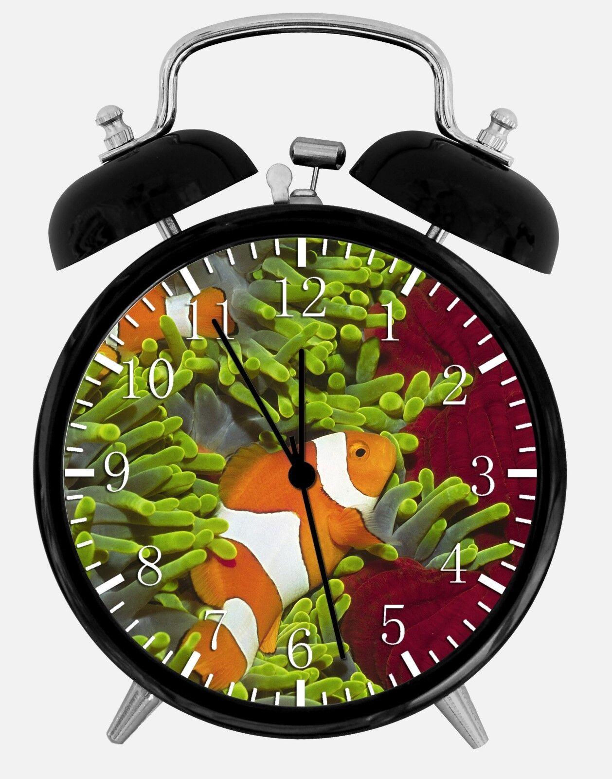 "Tropical Ocean Fish Alarm Desk Clock 3.75"" Room Office Decor W144 Nice For Gift"