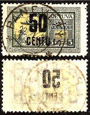 Lithuania; Sc. # C29, Mi.# 184; OFFSET; USED; 1922.