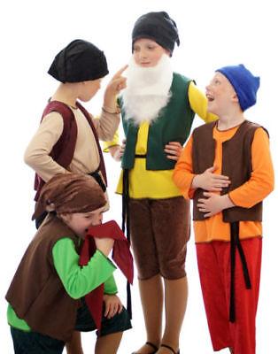 Kostüme 7 Zwerge (Panto Bühne shows-world BUCH day-children's Schneewittchen 7 Zwerge Komplettset)