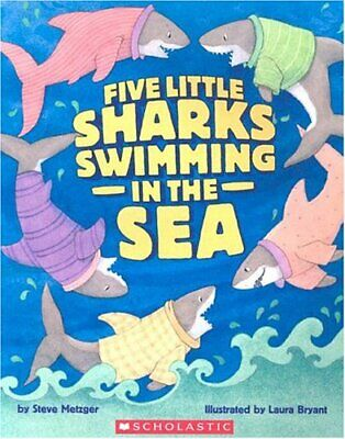 Five Little Sharks Swimming in the