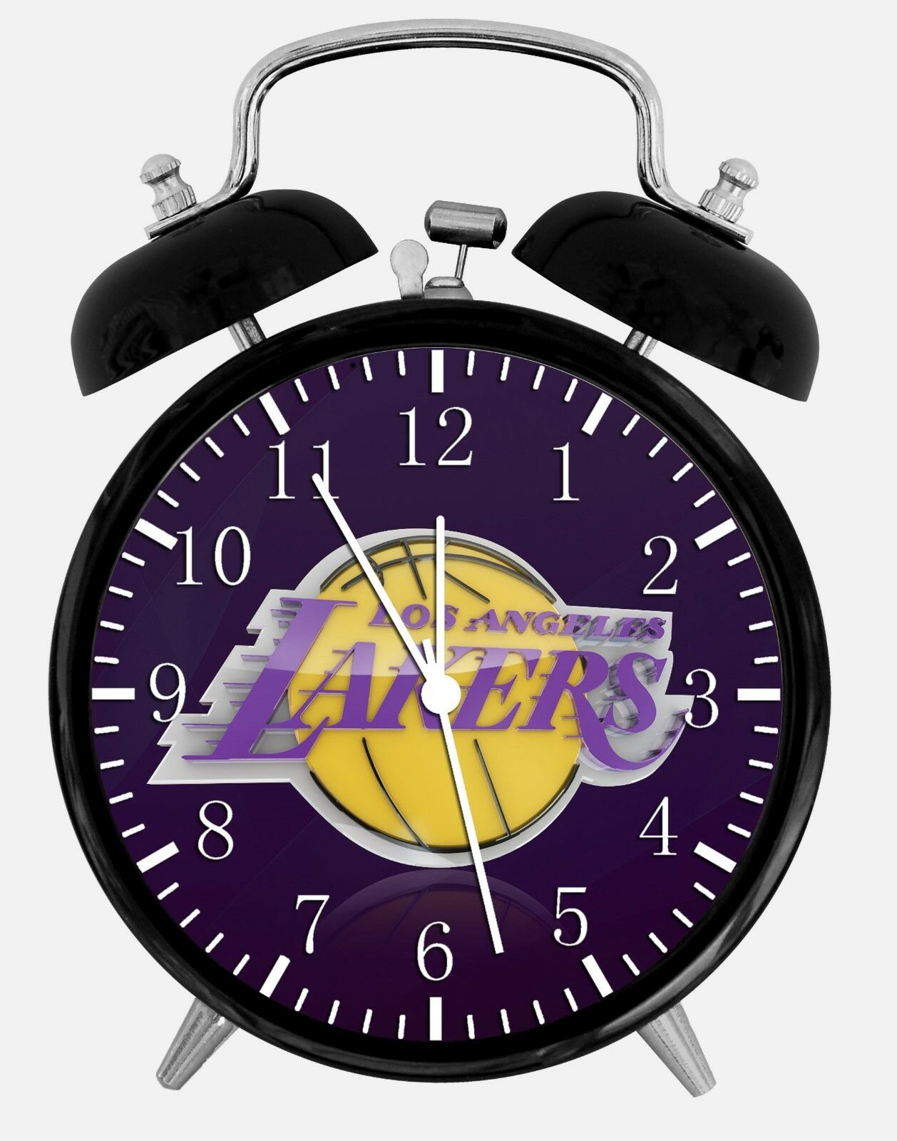 "Los Angeles Lakers Alarm Desk Clock 3.75"" Home or Office Decor W84 Nice For Gift"