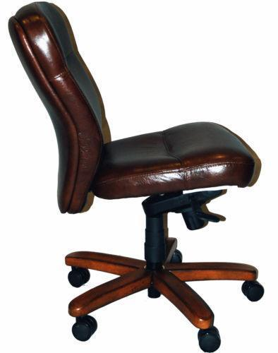 genuine leather office chair ebay