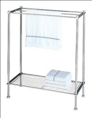 Bathroom Spa Towel Clothes Bar Rod Rack Stand Storage Hanger Shelf Dryer NEW