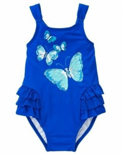 Gymboree Toddler Girl Size 5T Wings Blue 1-Piece Swimsuit New with Tags