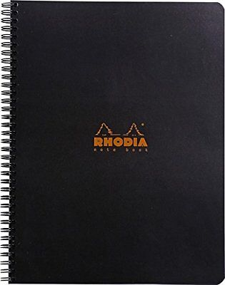 Rhodia Wirebound - Notebook - Black - Lined With Margin - 9 X 11.75 New R193109