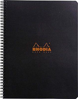Rhodia Wirebound - Notebook - Black - Lined With Margin - 9 X 11.75 New R193109