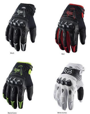 Fox Racing Bomber Motorcycle/ATV Bike Gloves Black / White M/L/XL ()