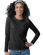 Hanes Women's Long Sleeve Tee Shirts