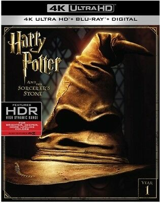 Harry Potter and the Sorcerers Stone (4K Ultra HD Blu-ray, Digital, 2017) NEW