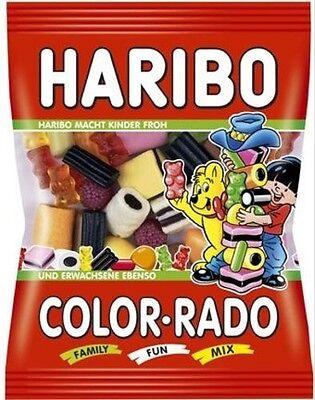 bo Color-Rado - 24 Beutel je 100 Gramm - Fruchtgummi Lakritz (Blau Lakritze)