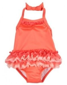 NWT Gymboree Swim Shop Girl Swimsuits Tankini Rash Guard Flower Ruffles Nautical