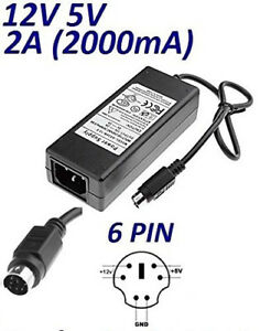 CASE 35-G Adapter for External Hard Drives 6Pin PS/2: 12V 5V 2A