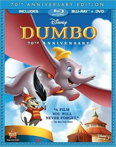 Dumbo New Blu-ray + Dvd 70th Anniversary Edition In Blu-ray Packaging Disney