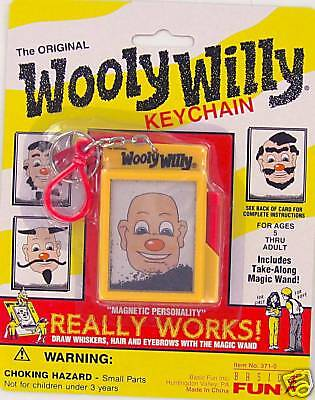 WOOLY WILLY Keychain Keyring classic toy Basic Fun Retired Retro Willie - Keychain Basic Fun Toy