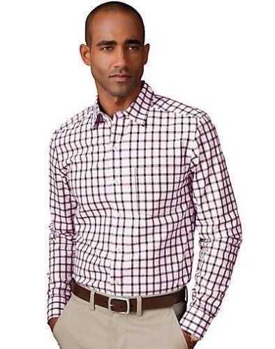 Men 39 s gingham shirt large ebay for Men s red gingham dress shirt