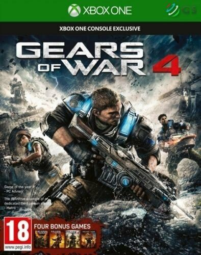 Gears Of War 4 & Four Bonus Games Xbox One * NEW SEALED