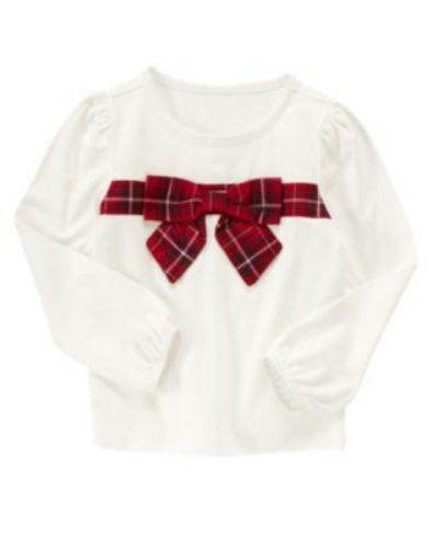 NWT Gymboree Girls Merry Occasions Bow Top Size 4 5 & 6