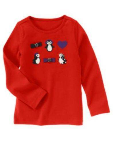NWT Gymboree Girls Winter Penguin Top Size 3 4 5 6 & 7