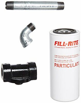 Fill-rite 1200ktf7018 34 18 Gpm 68 Lpm Particulate Fuel Filter With Filter Kit
