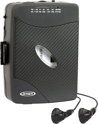 Jensen SCR-75 Personal Stereo Cassette Player - AM/FM - Stereo Earbuds (Black) [