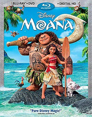 Moana Blu Ray Dvd  2017  2 Disc Set  Digital Copy Used Includes Slipcover