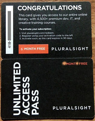Pluralsight 6-Months PLUS Membership - works with existing memberships
