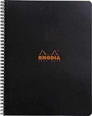 Rhodia Wirebound Notebook 8 14 X 11 34 Lined With Margin Black