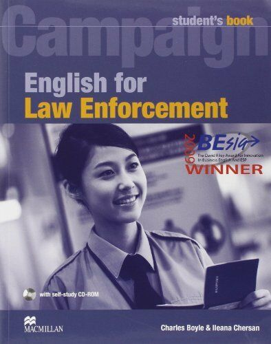 English for Law Enforcement: Student Book with CD-ROM NEU Taschen Buch C Boyle
