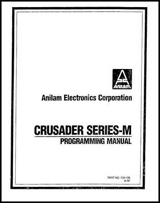 Anilam Crusader Series M Cnc Programming Manual
