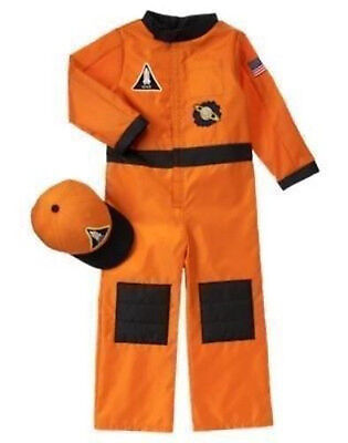 NWT GYMBOREE ASTRONAUT SPACE FLIGHT SUIT COSTUME WITH HAT 3 4 HALLOWEEN DRESS UP