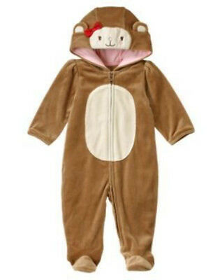 3-6 Month Monkey Halloween Costume (NWT GYMBOREE MISCHEVIOUS MONKEY COSTUME BABY GIRLS 3-6 MONTH 3 6)