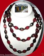 Vintage Red Glass Bead Necklace