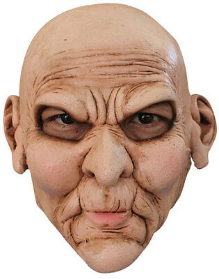 MENS OLD BALD LATEX DELUXE HALLOWEEN OAP WRINKLE FACE COSTUME HORROR MASK NEW](Bald Man Halloween Costumes)