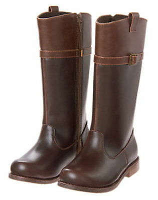 NWT Gymboree BACK TO BLOOMS Brown Riding Boots SZ 10 11 12 13 1 2 4 Girls
