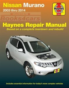 MURANO SHOP MANUAL NISSAN SERVICE REPAIR BOOK HAYNES WORKSHOP CHILTON 2003-2014