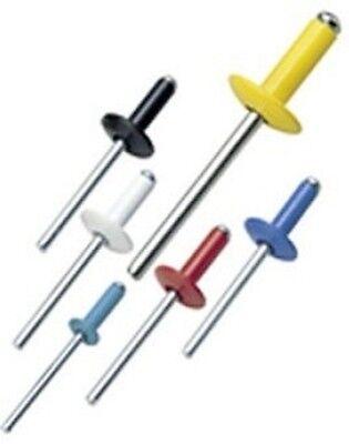 50 BLACK ALL Aluminum POP Rivets (6-6) 3/16 x 3/8 Max Grip
