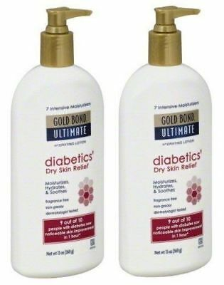 Gold Bond Ultimate Diabetic Skin Relief Lotion 13 oz 2-Pack Moisturizer Cream Diabetic Skin Cream