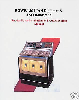 Rowe AMI JAN - Diplomat  & JAO-Bandstand Jukebox Manual