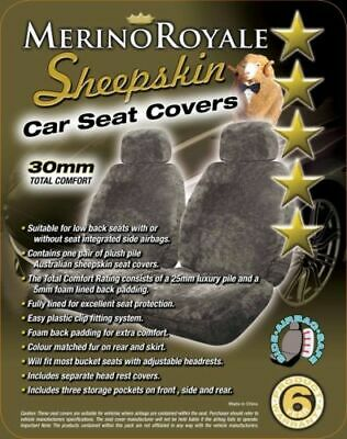 Sheepskin Car Seat Covers for Foton Tunland All Models Seat Airbag safe