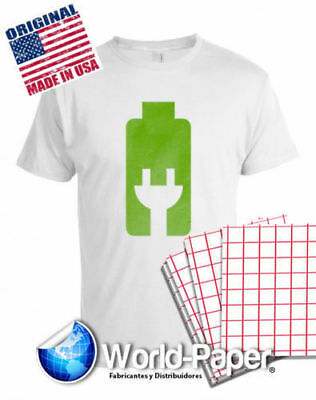Red Grid Inkjet Heat Transfer Paper 20 Iron On 8.5 X 11 For Light Garments